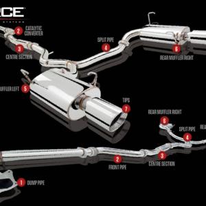 """Uk³ad wydechowy Subaru Legacy GT 2010 3"""" Turbo-Back System"""