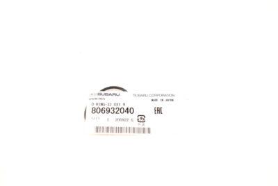 806932040 Oring wewnętrzny podstawki chłodnicy oleju Forester XT 03-07 Impreza WRX 05-07